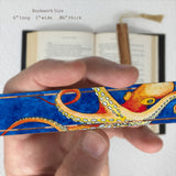 Octopus Giving You The Eye - Art by Christi Sobel on Solid Cherry Wooden Bookmark with Tassel