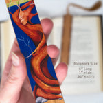 Tree Person - Art by Christi Sobel on Solid Cherry Wooden Bookmark with Tassel
