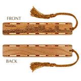 Philadelphia Pennsylvania Skyline Engraved Wooden Bookmark with Tassel