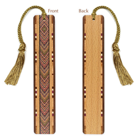 Tapestry Wooden Bookmark with Tassel