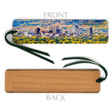 Colorado Springs in Fall Colors, Wooden Bookmark with Suede Tassel