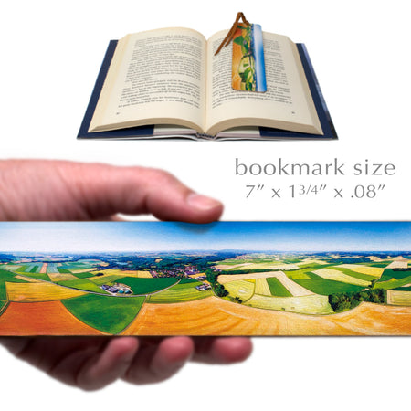 Croplands - Brilliant Colors Wooden Bookmark with Suede Tassel