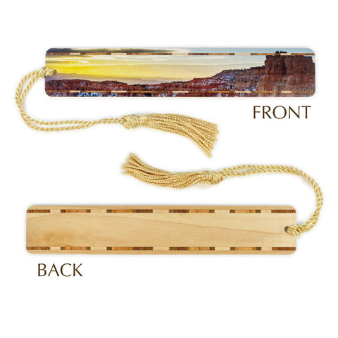 Bryce Canyon Utah - Photograph Color Wooden Bookmark with Tassel