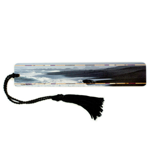 Beach Scene, California Coast - Original Photograph Wooden Bookmark with Tassel