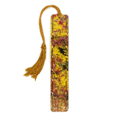 Autumn Leaves - Original Photograph -  Wooden Bookmark with Tassel