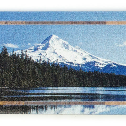 Mount Hood National Forest, Oregon - Photograph at Lost Lake, Color Wooden Bookmarks with Tassel
