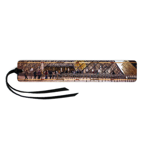 The Louvre Museum Entrance Photograph by Mike DeCesare Printed On Wooden Bookmark with Tassel