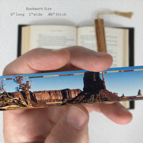 Monument Valley, Arizona - Original Photograph Color Wooden Bookmark with Tassel