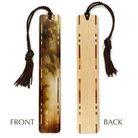 Olympic Peninsula, Mt. Walker Summit - Photograph - Misty Forest - Color Wooden Bookmark with Tassel