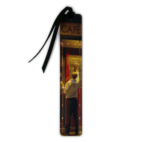 Paris Cafe Daily Menu Photograph by Mike DeCesare Printed On Wooden Bookmark with Tassel