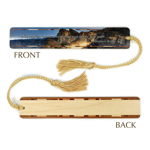 Stephen King Quote - Yosemite National Park Color Wooden Bookmark with Tassel
