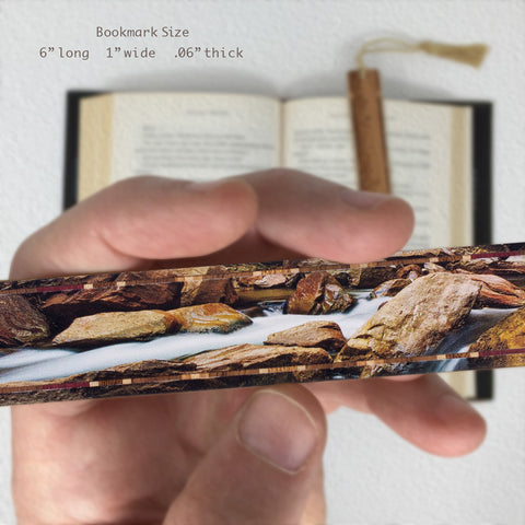 Zion National Park - Virgin River - Photograph Color Wooden Bookmark with Tassel