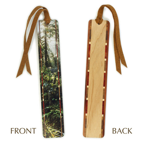 Wallace Falls State Park, WA - Photograph Color Wooden Bookmark with Tassel
