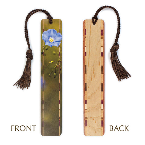 Blue Flower at Bridger-Teton National Forest Original Photograph - Color Wooden Bookmark with Tassel