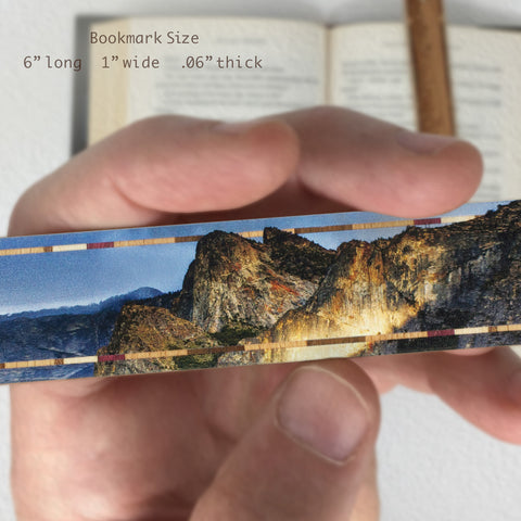 Yosemite National Park Original Photography Color Wooden Bookmark with Tassel