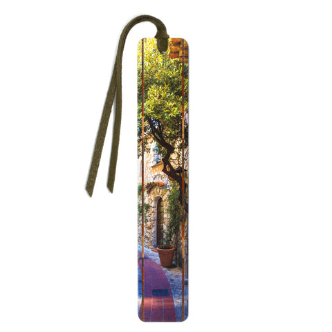 Charming Paris Neighborhood - Color Photograph by Mike DeCesare - Wooden Bookmark with Tassel