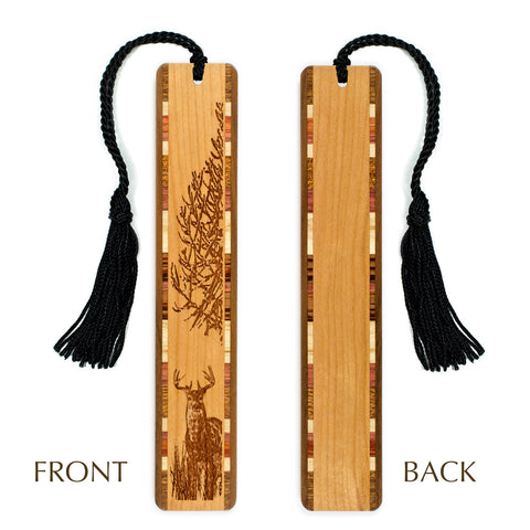 Deer - Engraved Wooden Bookmark with Tassel