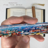 Edinburgh, Scotland Color Photograph on Handmade Wooden Bookmark with Tassel