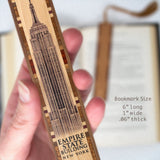 Buildings - Empire State Building UV Ink Printed Directly onto Handmade Wooden Bookmark with Inlays and Tassel
