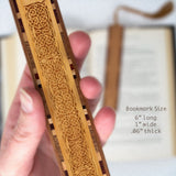 Celtic Knot Design - Engraved Wooden Bookmark with Tassel