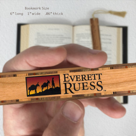 Everett Ruess Logo Hand Made Wooden Bookmark with Tassel