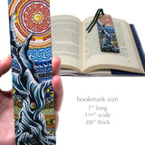 Bristlecone Pine, Painting by Gaia Woolf-Nightingall - Wooden Bookmark with Suede Tassel