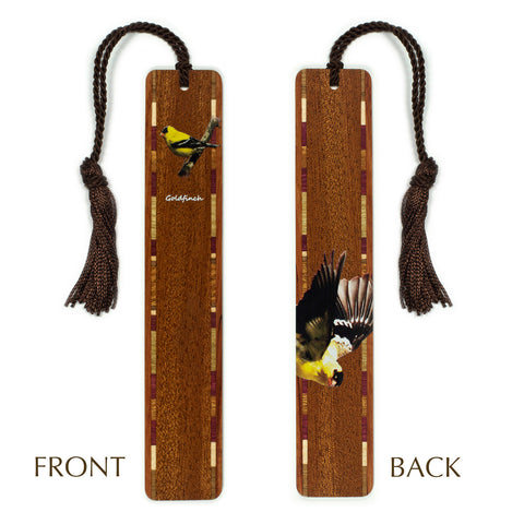 Goldfinch Wooden Bookmark with Tassel