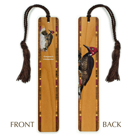 Woodpecker - Guayaquil Woodpecker - Wooden Bookmark with Tassel