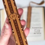 10th Anniversary Engraved Bookmark with Tassel - Made in the USA