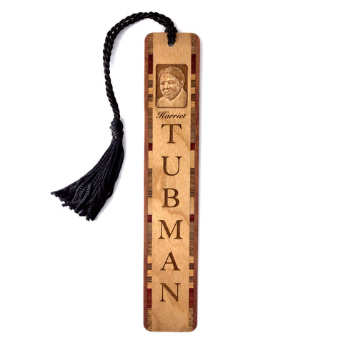 Harriet Tubman Engraved Wooden Bookmark with Tassel