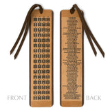 I Ching Book of Changes Hexagrams with Descriptions on 2 Sided Wooden Bookmark with Tassel