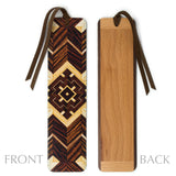 Craftsman Pattern 02 Design by Mitercraft - New Larger Size Wooden Bookmark with Tassel