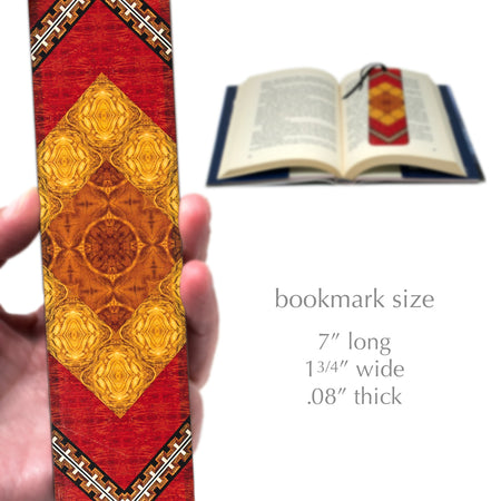 Craftsman Pattern 03 Design by Mitercraft - New Larger Size Wooden Bookmark with Tassel