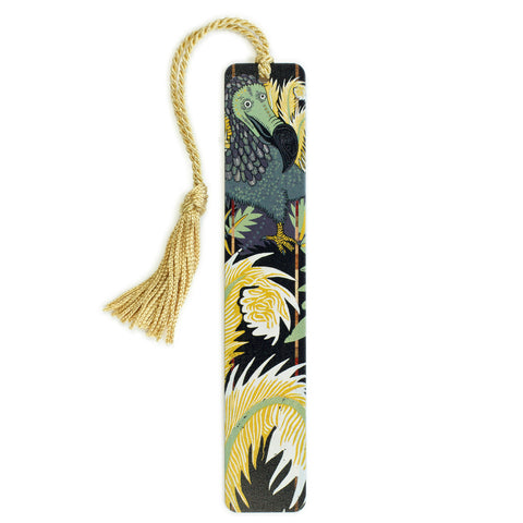 Dodo Bird - original woodcut art by Jenny Pope - Color Wooden Bookmark with Tassel