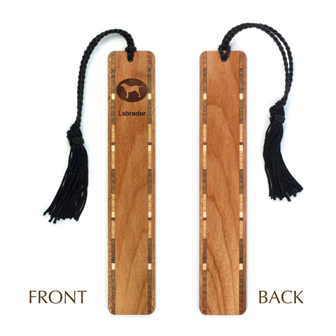 Dog Bookmark - Labrador Retriever Engraved Wooden Bookmark with Tassel