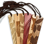 6 Pack of Leaves and Ferns- Engraved Wooden Bookmarks with Tassels