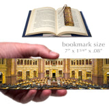 US Library of Congress Wooden Bookmark with Suede Tassel