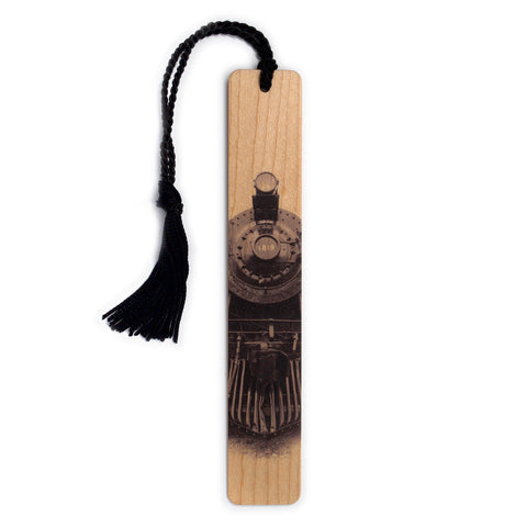 Train - Steam Locomotive 1819 Hand Made Wooden Bookmark with Tassel