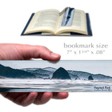 Haystack Rock Cannon Beach, Oregon - Photo by Mike DeCesare - Painted FX on Large Wooden Bookmark