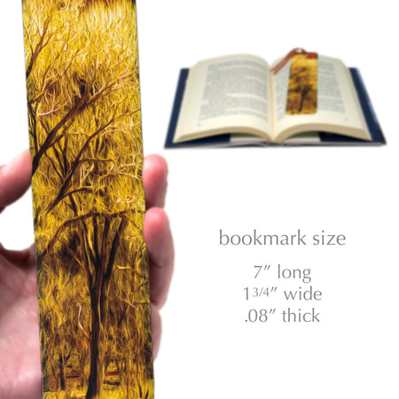 Photograph Old Tree by Mike DeCesare - Enhanced and Printed on Wooden Bookmark with Tassel