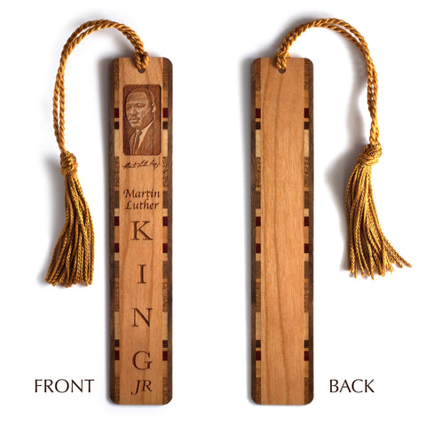 Martin Luther King, Jr. Engraved Wooden Bookmark with Tassel