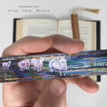 Wooden Bookmark with Tassel – Flock of Sheep – Mary Beth Ihnken painting