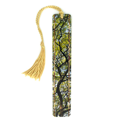 Hawaiian Monkeypod Tree Branches Color Wooden Bookmark with Tassel