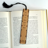 Reading Book Quote by William Nicholson Wooden Bookmark with Tassel