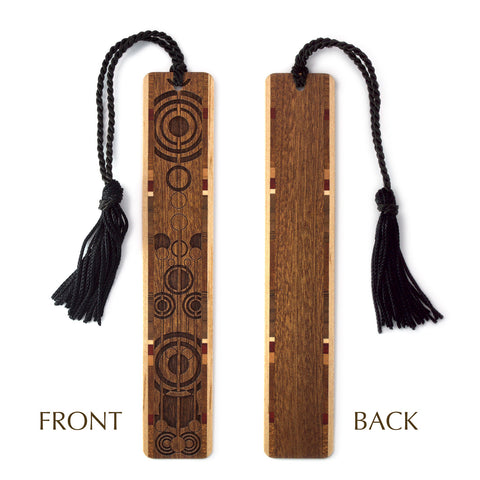 Pendulums Engraved Wooden Bookmark with Tassel on Sapele