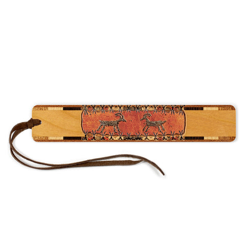 Petroglyph - Engraved Color Wooden Bookmark with Tassel