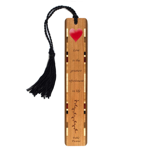 Pablo Picasso Love Quote - Bookmark with Tassel - Made in the USA