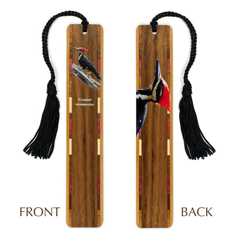 Woodpecker - Pileated Woodpecker - Wooden Bookmark with Tassel