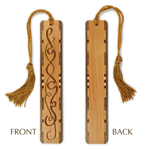 Ribbons of Love Engraved Wooden Bookmark with Tassel