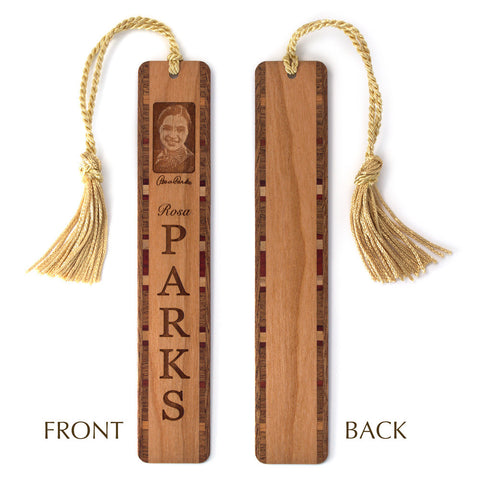 Rosa Parks Engraved Wooden Bookmark with Tassel